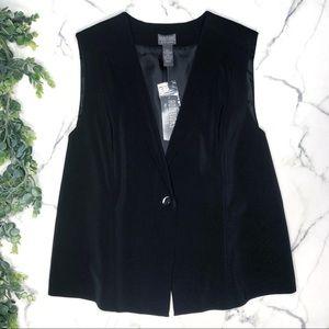 CHICO'S 3 Additions Socialite Black Vest XL 16-18